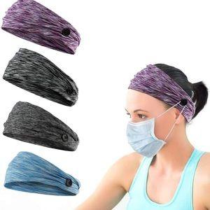 New MADHOLLY Button Headbands Set- Non Slip Elastic